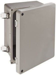 NEMA enclosure is used to protect RFID readers from harsh environments.