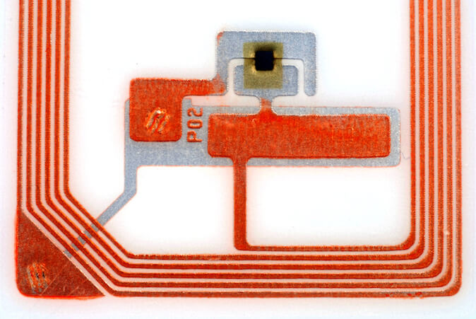RFID Basics - Example of HF Tag Chip and Antenna