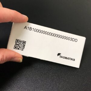 Pre-printed, pre-encoded RFID Tag